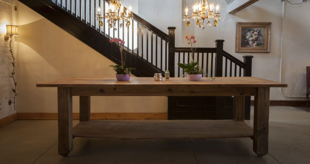 Chandelier Room Serving Table